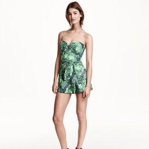 H&M Palm Print / Banana Leaf Print Romper